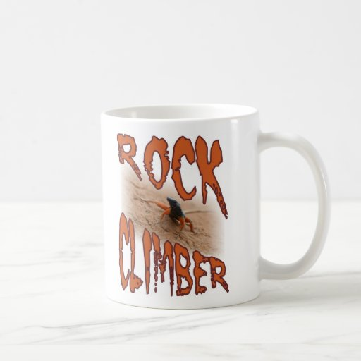 Extreme sports lizard: Rock climbing / climber Classic White Coffee Mug