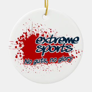 Extreme Sports ornament, customize Ceramic Ornament