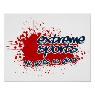 Extreme Sports poster, customizable Poster