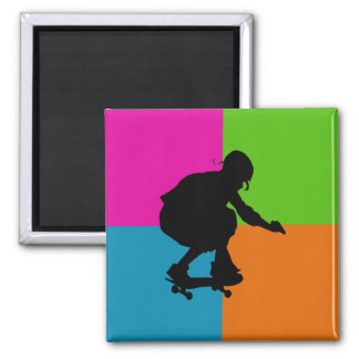 extreme sports - skateboard fridge magnet