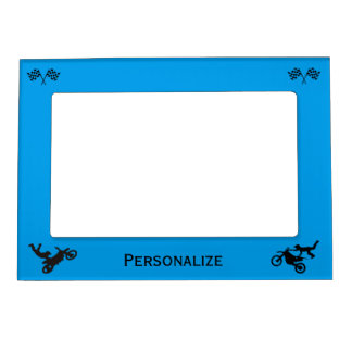 Extreme Stunts & Checkered Flags Magnetic Photo Frame