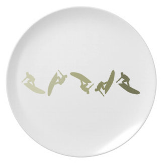 Extreme Surfing Dinner Plate