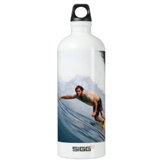 Extreme surfing tropical reef Indian ocean Aluminum Water Bottle
