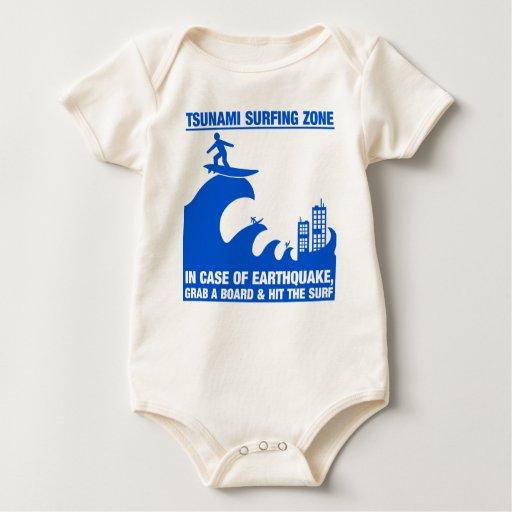 Extreme Tsunami Surfers Baby Bodysuit