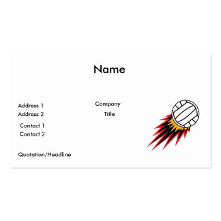 extreme volleball spike design Double-Sided standard business cards (Pack of 100)