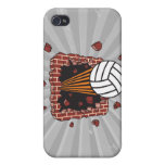 extreme volleyball breaking brick wall iPhone 4 cover