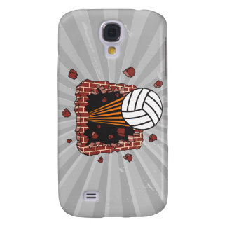 extreme volleyball breaking brick wall samsung galaxy s4 cover