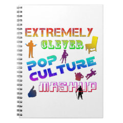 Extremely Clever Pop Culture Mashup Spiral Notebook