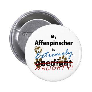 Extremely Naughty Affenpinscher 2 Inch Round Button