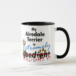 Extremely Naughty Airedale Terrier Mug