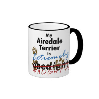 Extremely Naughty Airedale Terrier Ringer Coffee Mug