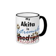 Extremely Naughty Akita Mugs
