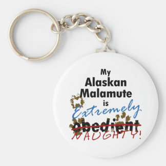Extremely Naughty Alaskan Malamute Key Chains