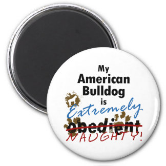 Extremely Naughty American Bulldog Magnet