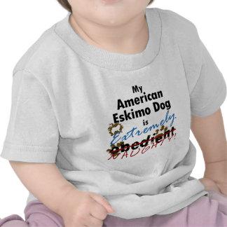 Extremely Naughty American Eskimo Dog T Shirts