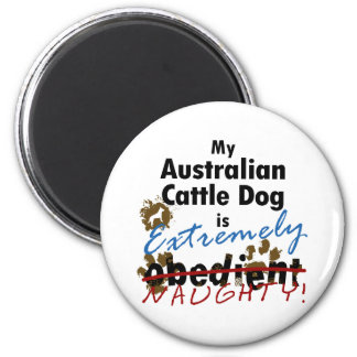 Extremely Naughty Australian Cattle Dog 2 Inch Round Magnet