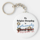Extremely Naughty Belgian Sheepdog Key Chains