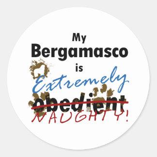 Extremely Naughty Bergamasco Classic Round Sticker