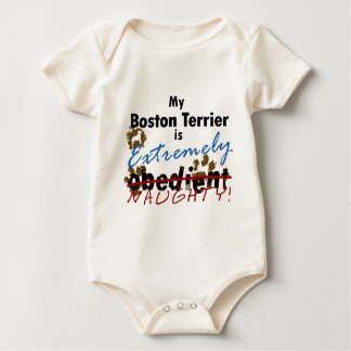 Extremely Naughty Boston Terrier Baby Bodysuit