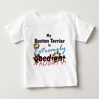 Extremely Naughty Boston Terrier Baby T-Shirt