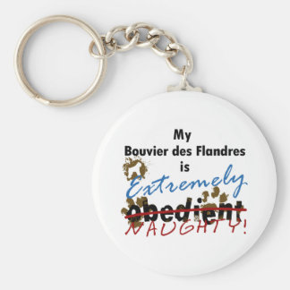 Extremely Naughty Bouvier des Flandres Basic Round Button Keychain