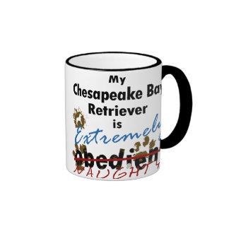 Extremely Naughty Chesapeake Bay Retriever Ringer Mug