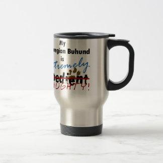 Extremely Naughty Norwegian Buhund Travel Mug
