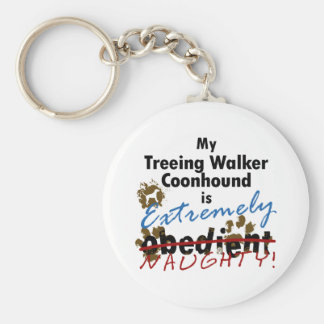 Extremely Naughty Treeing Walker Coonhound Keychain