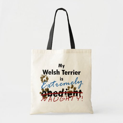 Extremely Naughty Welsh Terrier Budget Tote Bag