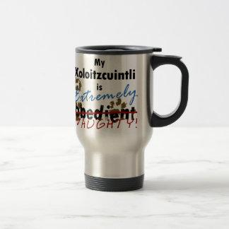 Extremely Naughty Xoloitzcuintli Travel Mug