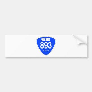 Extremely road 893 line (yakuza) - national highwa bumper sticker