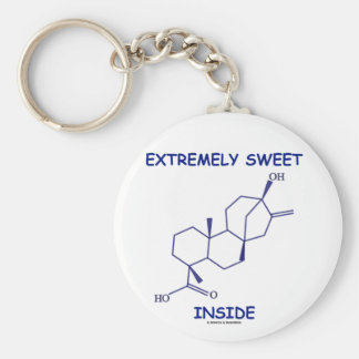 Extremely Sweet Inside (Steviol Molecule) Basic Round Button Keychain