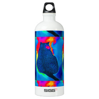 Extremely Vibrant Colorful Cat Water Bottle