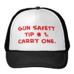 extremidad #1 de la seguridad del arma gorras de camionero