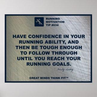 Extremidad corriente #034 de la motivación póster