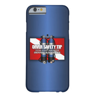 Extremidad de la seguridad del buceador (ST) Funda De iPhone 6 Barely There