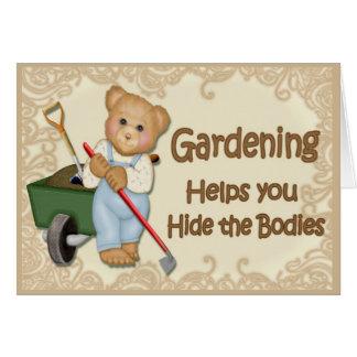 Extremidad que cultiva un huerto #1 tarjeta de felicitación