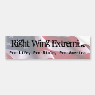 Extremista de la derecha, antiabortista, Favorable Pegatina Para Auto