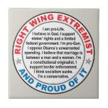 Extremista de la derecha azulejos