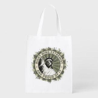 Extremista de la derecha bolsas para la compra