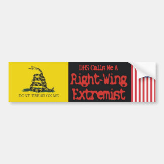 Extremista de la derecha pegatina para auto