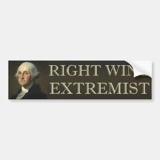 Extremista de la derecha de George Washington Pegatina De Parachoque