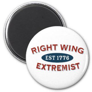 Extremista de la derecha Est 1776 Imán Redondo 5 Cm