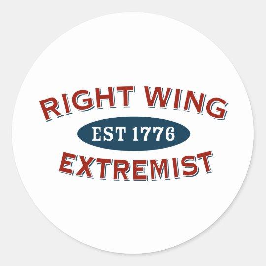 Extremista de la derecha Est 1776 Pegatina Redonda