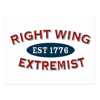 Extremista de la derecha Est 1776 Tarjeta Postal