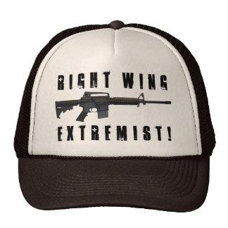 ¡Extremista de la derecha! Gorras