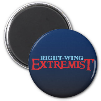 Extremista de la derecha imán redondo 5 cm