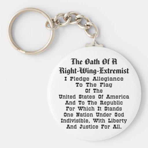 Extremista de la derecha llavero