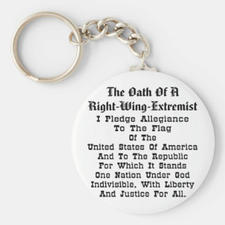 Extremista de la derecha llavero redondo tipo pin