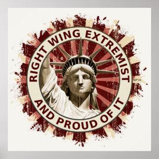 Extremista de la derecha impresiones